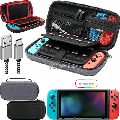 $13.99 • Buy Nintendo Switch Carrying Case Hard Shell Portable Pouch Travel, Screen Protector