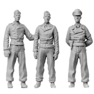 SOL RESIN FACTORY, SCALE 1:35, WWII German Tank Crew (3 FIGURES), Cat.no.MM261 • 26.94£