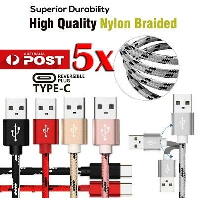 AU14.99 • Buy 5X 1M 2M 3M USB Type-C Charging Charger Cable For OnePlus 3 3T 5 5T 6 6T 7 Pro