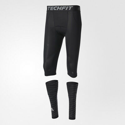 £57.53 • Buy Adidas Techfit Recovery 3-in-1 Short Tights And Calf Warmers B45500 Compression