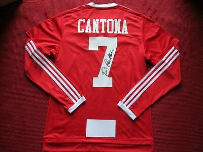 Manchester United Legend Eric Cantona Hand Signed Home Shirt Jersey -photo Proof • 270.58£