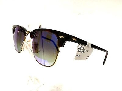 5d6c689c009 Ray Ban Clubmaster 3016 990 7Q Red Havana Gold Blue Fade Mirror New  Authentic •