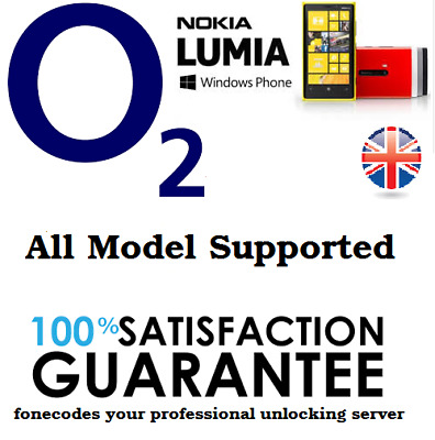 Nokia Lumia O2 UK Unlocking Unlock Code For Microsoft 550 640 650 950 1320 • 1.99£