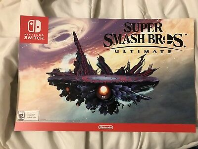 $25 • Buy RARE Super Smash Bros Ultimate Promo Poster SSBU Nintendo Switch Limited Edition