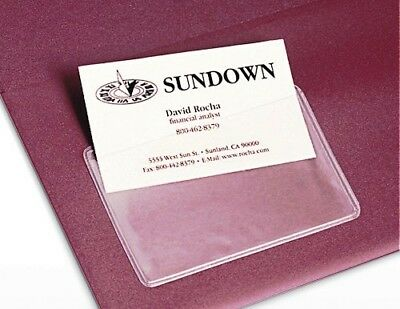 £27.49 • Buy 100x Self Adhesive Sticky Back MEMBERSHIP & ID CARD HOLDER Clear Transparent PVC