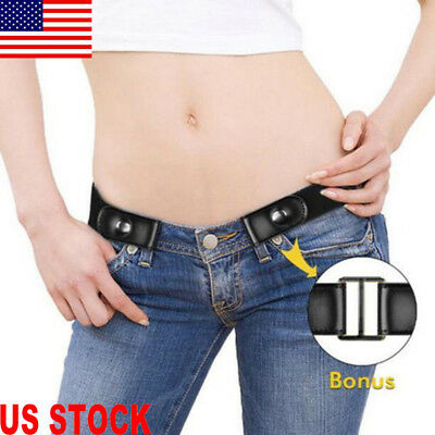 $7.31 • Buy Buckle-Free Elastic Invisible Belt Women Men Waistband For Jeans No Bulge Hassle