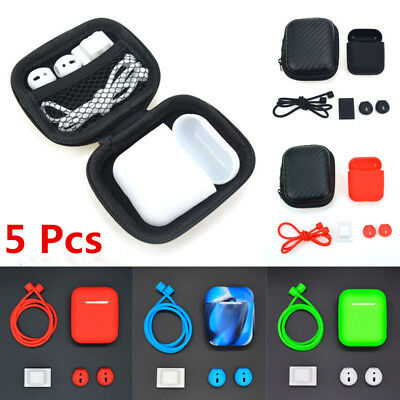 $ CDN5.22 • Buy For Apple AirPods 1st 2nd Accessories Anti-dust Silicone Case Anti Lost Strap