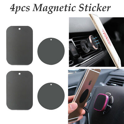 $7.50 • Buy 4X Metal Plate Magnetic Car Phone Holder Accessories Magnet Phone Stand Support