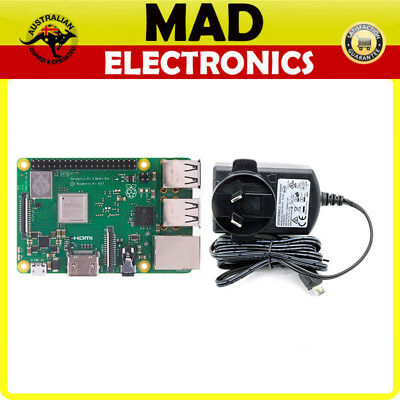 AU89.10 • Buy Raspberry Pi 3 Model B+ PLUS And Official Raspberry Pi 3 Power Supply