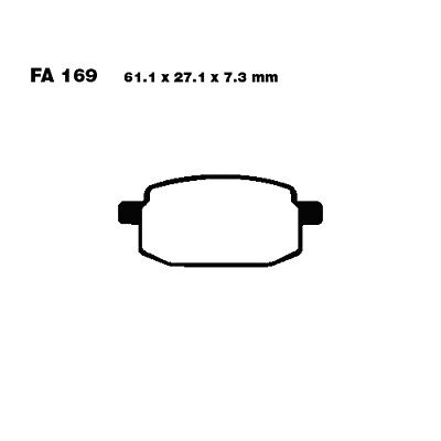 AU19.35 • Buy Scooter Brake Pads EBC For MBK YW 100 Booster 1999 - 2002