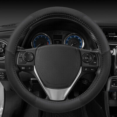 $17.54 • Buy Motor Trend Soft Perforated PU Leather Car Steering Wheel Cover Black