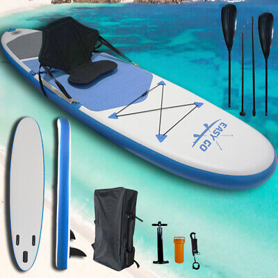 AU339 • Buy Easy Go Blue Inflatable Stand Up Paddle Board Sup Surfboard 120  Kayak Seat