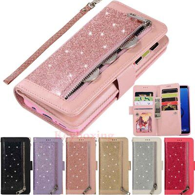 AU14.39 • Buy For Samsung Galaxy S7 S8 S9 S10 Note9 Leather Wallet Card Holder Flip Case Cover