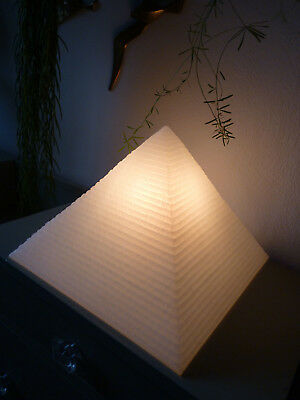 Lampe Pyramide Weiß - Table Lamp HEICO 80er 80s • 88.15£