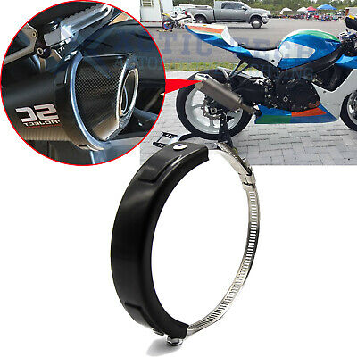 $13.99 • Buy Motorcycle Oval Exhaust Protector Can Cover For Universal 100mm-140mm Motorbike