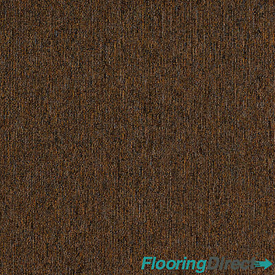 Spice Brown Carpet Tiles 5m2 Box - Domestic Commercial Office Study Flooring • 35.99£