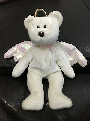 TY Beanie Babies Halo Teddy Number 425 Rare Retired - Immaculate Condition • 90£