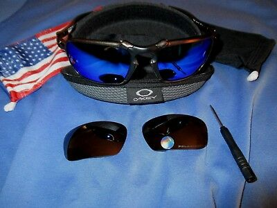 47017ef434e Oakley X Metal Badman Pewter Custom Sunglasses W Blue Polarized Lenses + tungsten • 255.00