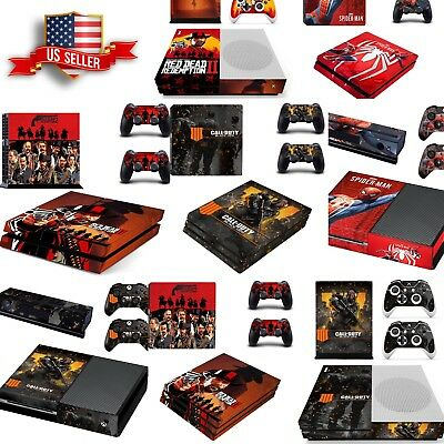 $6.99 • Buy PS4 Pro Wrap Skin Sticker PS4 Slim Xbox One S 360 Console Skin Vinyl Decal