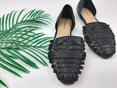 8fd6905cc3b0 NEW Women s Torrid Black Faux Leather Stitch D Orsay Flats Size 11 Wide  NWOB •