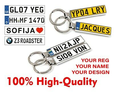 £7.99 • Buy Personalised Keyring Keychain Key Chain Your Car Number Plate Your Text Photo