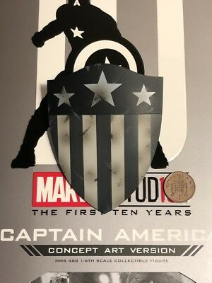 AU63.74 • Buy Hot Toys Captain America Concept Art MMS488 Old Shape Shield Loose 1/6th Scale