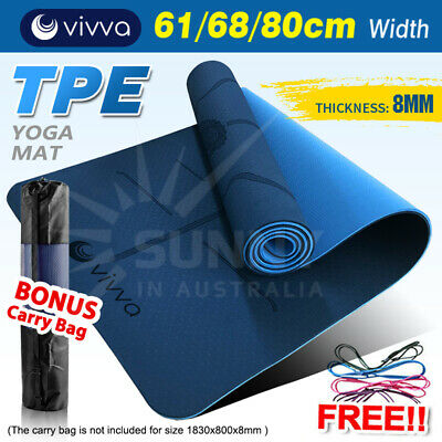 AU28.45 • Buy VIVA TPE Yoga Mat  Eco Friendly Exercise Fitness Gym Pilates Non Slip Dual Layer