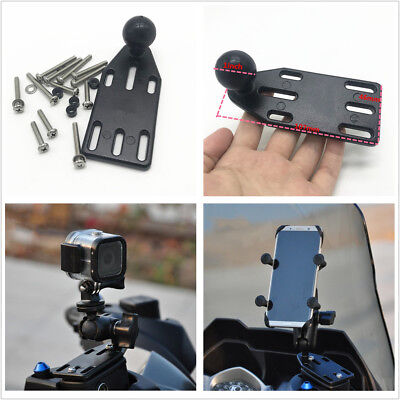 AU20.21 • Buy Motorcycle Brake/Clutch Reservoir Cover Mount Base 1'' Ball For Camera Cellphone