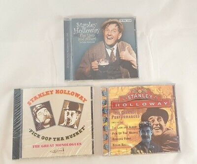 $ CDN44.99 • Buy Stanley Holloway Monologues Lot Of 3 CDs Brand New Still Sealed