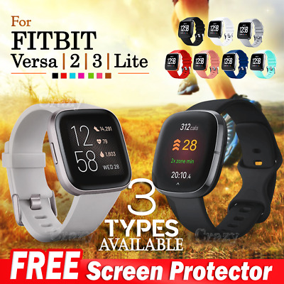 AU4.95 • Buy For Fitbit Versa Band /2/ Lite Silicone Strap Wristband Replacement Sports Bands