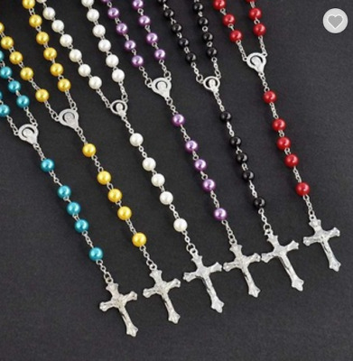 6 Colours First Holy Communion Rosary Beads Rosaries Catholic Prayer Necklace UK • 4.89£
