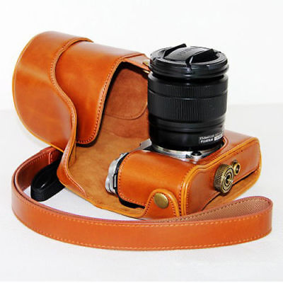 AU21.42 • Buy Brown PU Leather Camera Case For Fujifilm X-M1 XM1 X-A1 XA1 With 16-50mm Lens