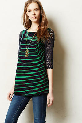 $ CDN11.99 • Buy Anthropologie Foreststripe Tunic Top (XS)