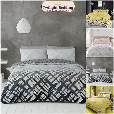 MODERN DUVET COVER SET |Floral Bedding Set |Extra Soft Double Size Quilt Covers • 11.95£