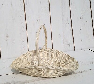 X Small- HANDMADE Wicker BASKET Natural Willow WEDDING Fruits Eggs • 7.90£