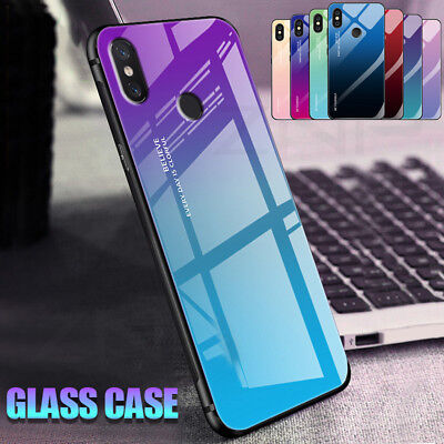 $ CDN3.84 • Buy For Xiaomi  Pocophone F1 Redmi Note 5 6 Pro Gradient Tempered GLASS Case Cover