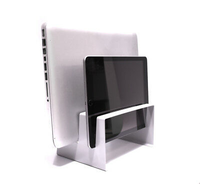 Laptop Tablet Vertical Desktop Stand Macbook IPad 2in1 Charger Grip Dell Surface • 12.95£