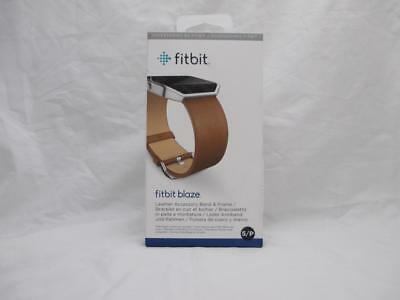 $ CDN21.08 • Buy Authentic Original Fitbit Leather Band Camel W Stainless Frame : Size Small