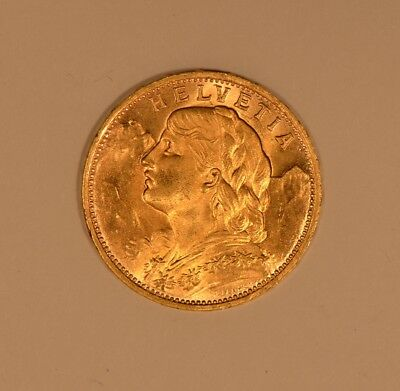 $335 • Buy 1927 Switzerland Swiss 20 Francs Gold Coin
