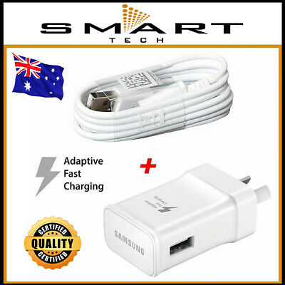 AU12.71 • Buy AC Wall Charger Adapter + USB Cable For Samsung Galaxy S4 S5 S6 S7 Edge Note 5