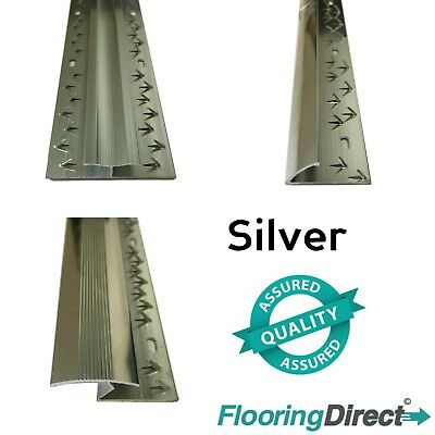 Silver - Carpet Entrance Threshold - Flooring Strip - Door Bar Trim Metal • 6.99£