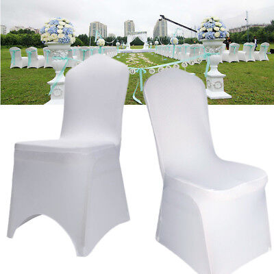 £91.14 • Buy 50x 100x Spandex Lycra Chair Cover Covers Banquet Wedding Party Strectch Event