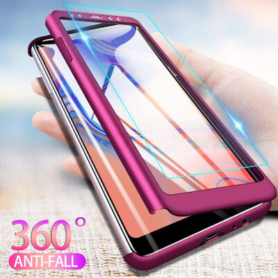 AU4.63 • Buy 360 Shockproof Full Cover Case For Samsung Galaxy A6 A8 Plus A7 2018+Glass Film