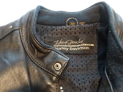 $ CDN139.52 • Buy Harley Davidson Black Leather Motorcycle Jacket Size 44