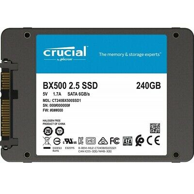AU68.90 • Buy Crucial BX500 240GB 2.5  SATA SSD - 3D NAND 540/500MB/s 7mm Acronis True Image