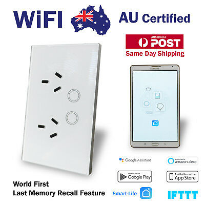 AU56.90 • Buy Smart Home WIFI Switch Home Automation Power Point Wall Socket Google, Alexa
