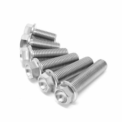 M10 Full Thread Titanium Hex Head Flange Bolt Screw 20 25 30 35 40 45 X 1.25 Ti • 4.95£