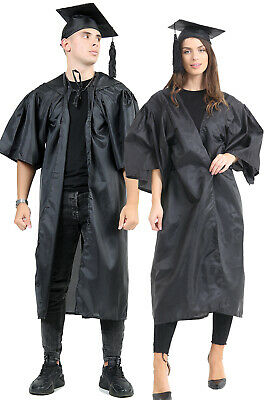 £14.99 • Buy Adults Graduation Robe & Hat Costume Mens Ladies Student Gown Robe Fancy Dress