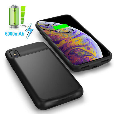 AU56.99 • Buy 2-in-1 Edge Coverage Power Bank Case Back Up Battery Cover Fr IPhone X Xs Max Xr