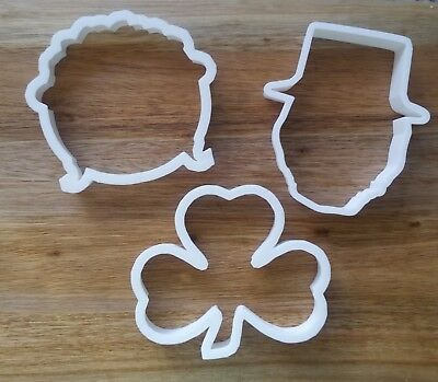 £3.89 • Buy St Patrick's Day Ireland Cookie Cutter Biscuit Dough Pastry Fondant Stencil